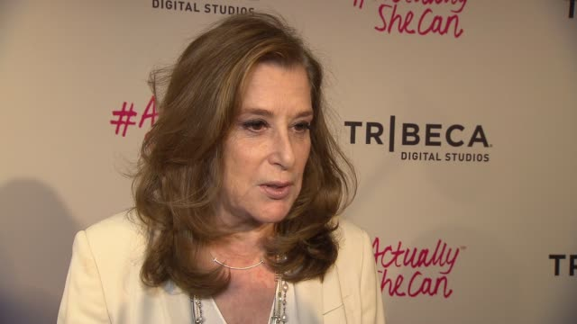 paula weinstein on supporting asc at #actuallyshecan film series premiere during 2016 tribeca film festival on april 21, 2016 in new york city. - tribeca festival stock videos & royalty-free footage