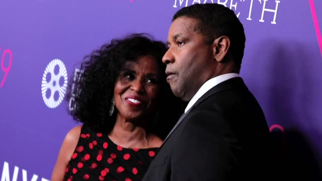 pauletta washington and denzel washington attend the opening night screening of the tragedy of macbeth during the 59th new york film festival at... - film festival stock videos & royalty-free footage