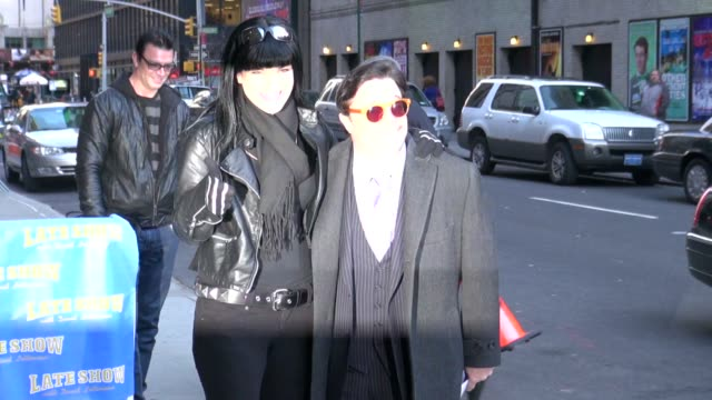 pauley perrette and nathan lane at the 'late show with david letterman' studio in new york on 2/28/2012 - nathan lane stock videos & royalty-free footage