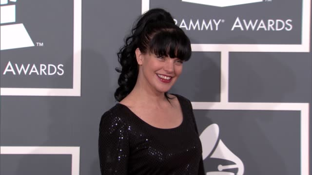 pauley perrette at the 55th annual grammy awards arrivals in los angeles ca on 2/10/13 - grammy awards stock videos and b-roll footage