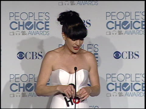 pauley perrette on what she's wearing, and on being at the event at the 2011 people's choice awards - press room at los angeles ca. - people's choice awards stock videos & royalty-free footage