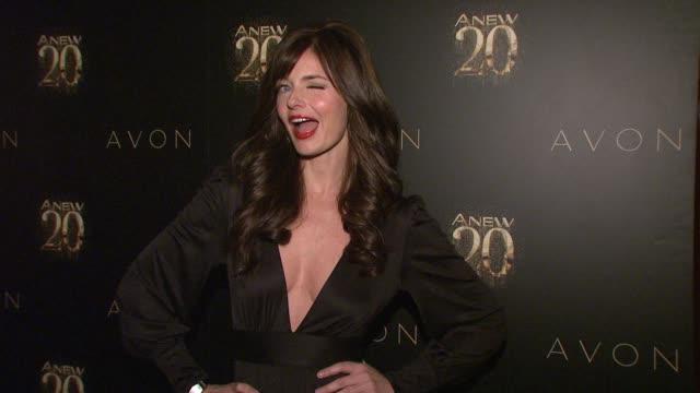 paulina porizkova at avon anew 20th birthday event on in new york, ny. - paulina porizkova stock videos & royalty-free footage