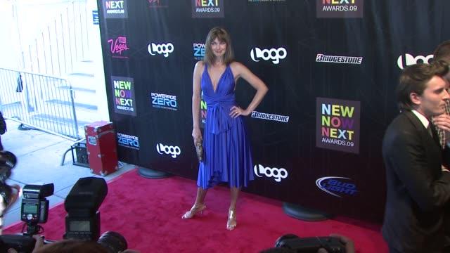 paulina porizkova at the logo's second annual 'newnownext awards' 2009 at new york ny. - paulina porizkova stock videos & royalty-free footage