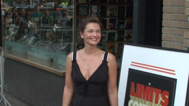 paulina porizkova at the the new york special screening of 'the limits of control' at new york ny. - paulina porizkova stock videos & royalty-free footage