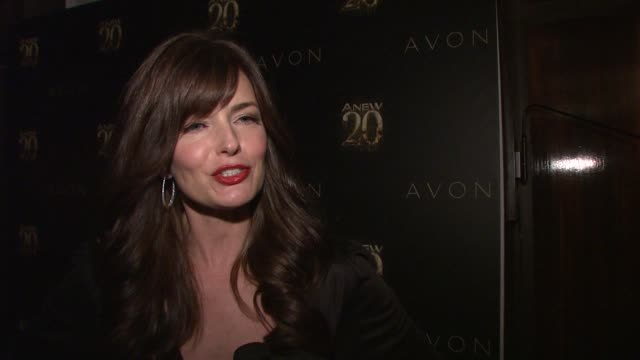 paulina porizkova on being out tonight to celebrate anew. on being the face of anew genics, how honored she is at avon anew 20th birthday event on in... - paulina porizkova stock videos & royalty-free footage
