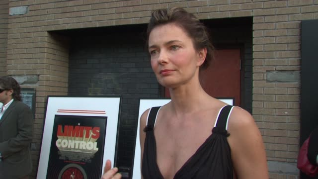 paulina porizkova on feeling sweaty and the hot weather. on being a big jim jarmusch fan, and wanting to see his new film. she talks about his unique... - paulina porizkova stock videos & royalty-free footage