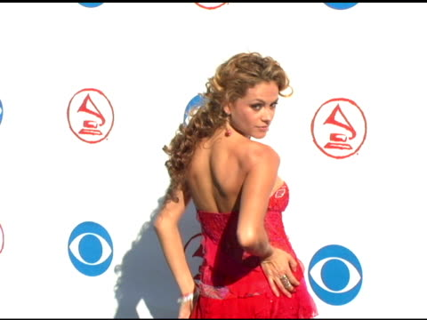 paulina rubio at the 2004 latin grammy awards arrivals at the shrine auditorium in los angeles, california on september 1, 2004. - latin grammy awards stock videos & royalty-free footage