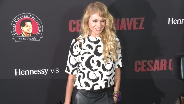 """paulina rubio - """"cesar chavez"""" los angeles premiere at tcl chinese theatre on march 20, 2014 in hollywood, california. - tcl chinese theatre stock videos & royalty-free footage"""