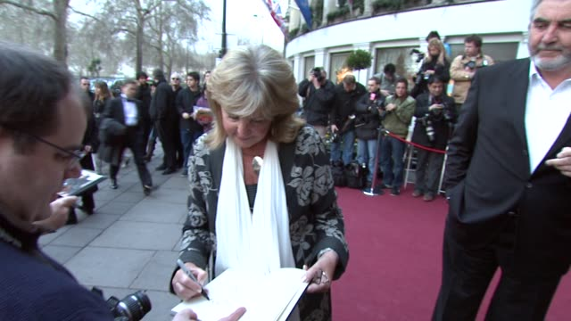 pauline collins john alderton at the the laurence olivier awards at the grosvenor house in london on march 9 2008 - john alderton stock videos & royalty-free footage