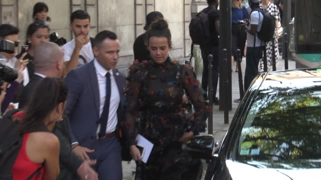 Pauline Ducruet arrives at the Valentino Haute Couture Fall Winter 2018/2019 show as part of Paris Fashion Week on July 4 2018 in Paris France