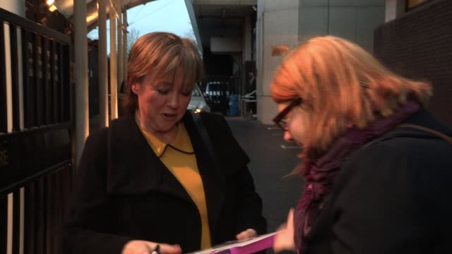 pauline quirke arrives to appear on the daybreak breakfast show sighted pauline quirke at itv studios on january 25 2012 in london england - pauline quirke stock videos & royalty-free footage