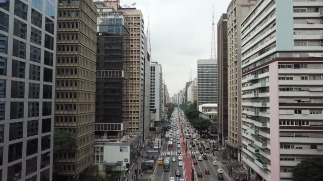 paulista avenue in são paulo, brazil - avenida paulista stock videos & royalty-free footage