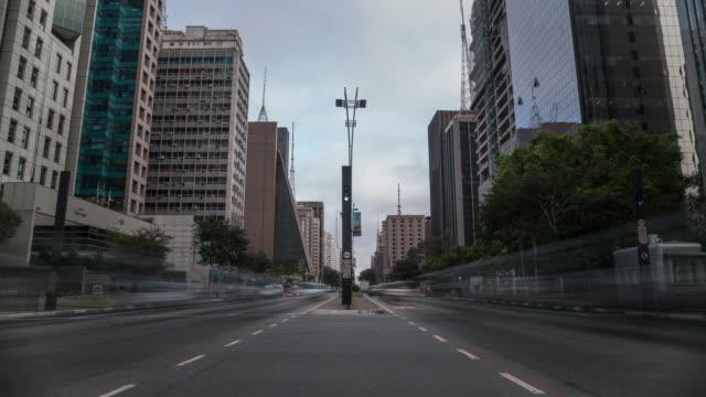 tl - paulista avenue - sao paulo, brazil - avenida paulista stock videos & royalty-free footage