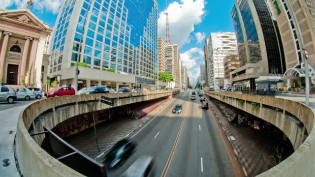 paulista avenue - sao paulo - geographical locations stock videos and b-roll footage
