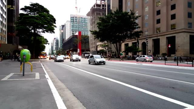 paulista avenue, sao paulo - são paulo stock videos and b-roll footage