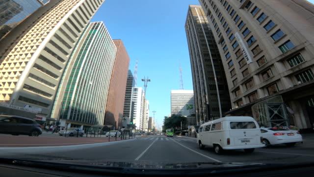 paulista avenue, são paulo - brazil - avenida paulista stock videos & royalty-free footage