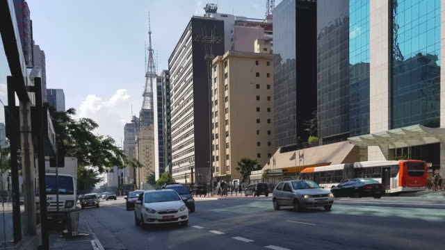 paulista avenue - avenue stock videos & royalty-free footage