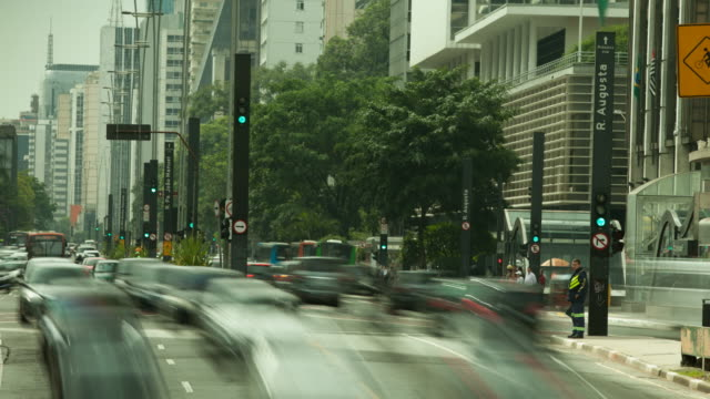 paulista avenue - road signal stock videos & royalty-free footage