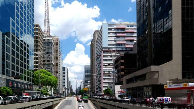 paulista avenue - são paulo stock videos and b-roll footage