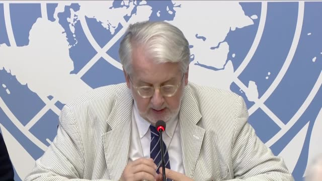 paulo pinheiro, chairperson of the commission of inquiry on syria and members of commission deliver speeches during a press conference at the united... - chairperson stock videos & royalty-free footage
