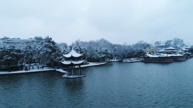 pavilion in westlake in hangzhou - hangzhou stock videos & royalty-free footage