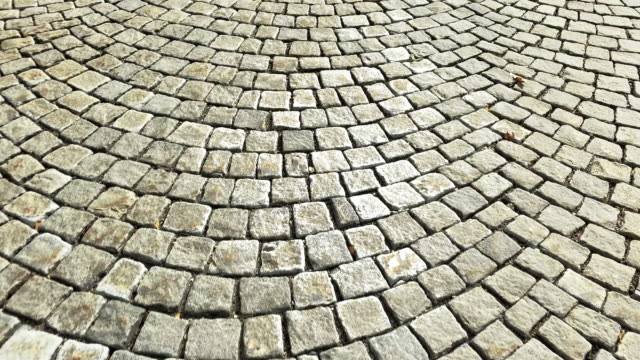 paving stone street - cobblestone stock videos & royalty-free footage
