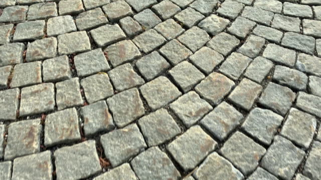 paving stone street - paving stone stock videos and b-roll footage