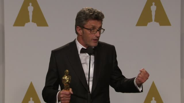 stockvideo's en b-roll-footage met speech pawel pawlikowski at 87th annual academy awards press room at dolby theatre on february 22 2015 in hollywood california - dolby theatre