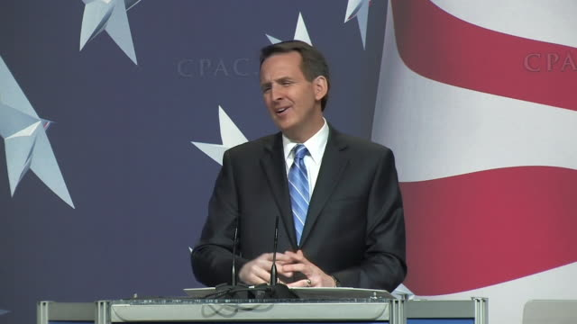 pawlenty stating that 'god is in charge.' - only mature men stock videos & royalty-free footage