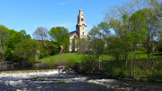 Pawtucket, Rhode Island längs floden Blackstone
