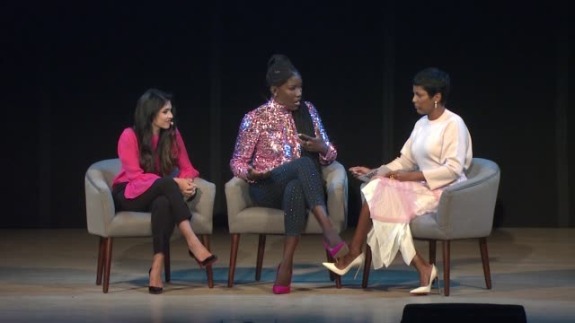 payal kadakia, tamron hall and bozoma saint john on the challenges at their workplace, culture and corporate structure, on failure being opportunity... - tamron hall stock videos & royalty-free footage