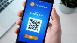 Paying with bitcoin using smartphone