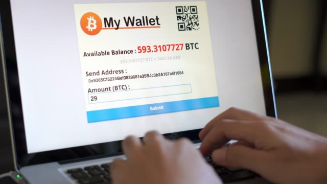 paying with bitcoin wallet - bitcoin stock videos and b-roll footage