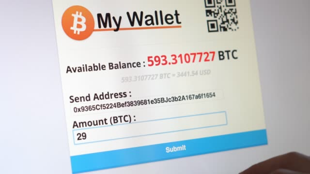 paying with bitcoin wallet - bitcoin stock videos & royalty-free footage