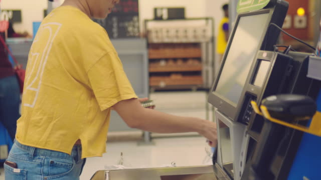 payment at cash in the store - receipt stock videos & royalty-free footage