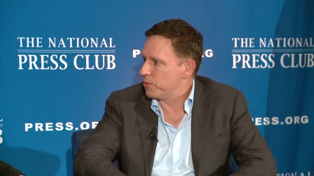 paypal founder Peter thiel on Gawker freedom of the press media and why he's not buying the Washington Times or trying to compete with Jeff Bezos who...