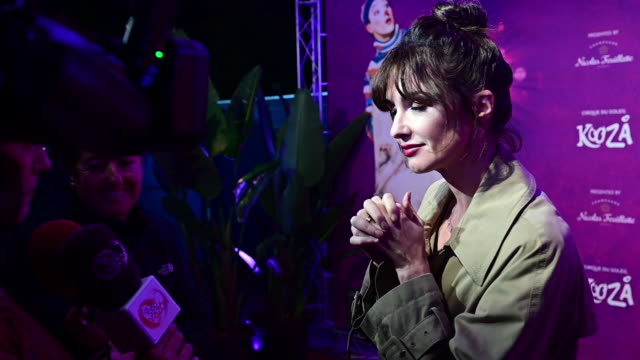 paz vega attends cirque du soleil 'kooza' madrid premiere on october 29 2019 in madrid spain - arts culture and entertainment stock videos & royalty-free footage