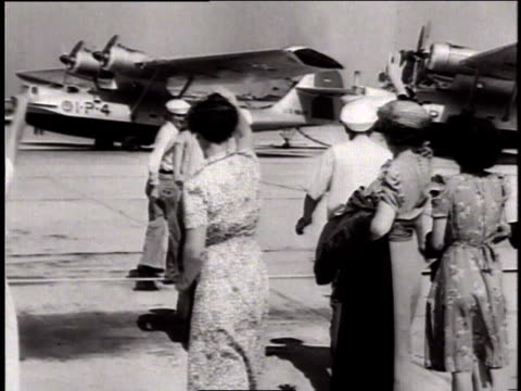 pbys taking off from a us navy air base / hawaii, united states - 1941 stock videos & royalty-free footage