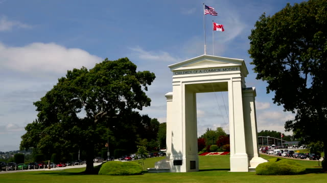 peace arch park - canada stock videos & royalty-free footage
