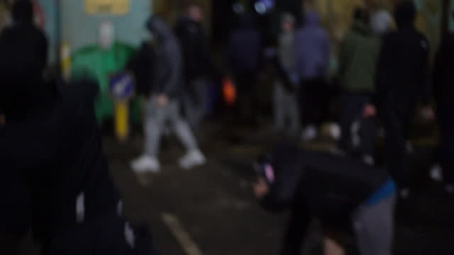 peace line between springfield and shankhill road battered open by cars during riots, amid growing tensions between loyalist and nationalists - belfast stock videos & royalty-free footage