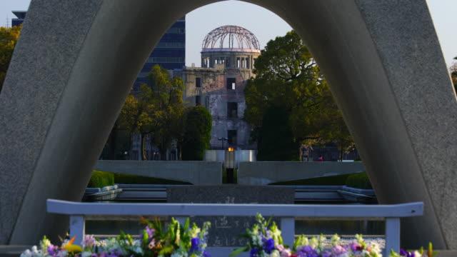 vidéos et rushes de peace memorial park à hiroshima, japon - hiroshima prefecture