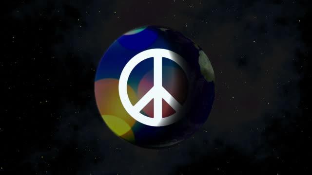 vídeos y material grabado en eventos de stock de concepto de la paz en la tierra - símbolo de la paz conceptos