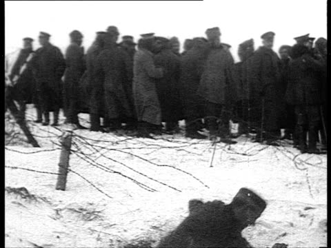 peace on wwi battle front fraternization between german and russian soldiers / russia - army stock videos & royalty-free footage