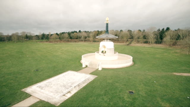 peace pagoda - pagoda stock videos & royalty-free footage