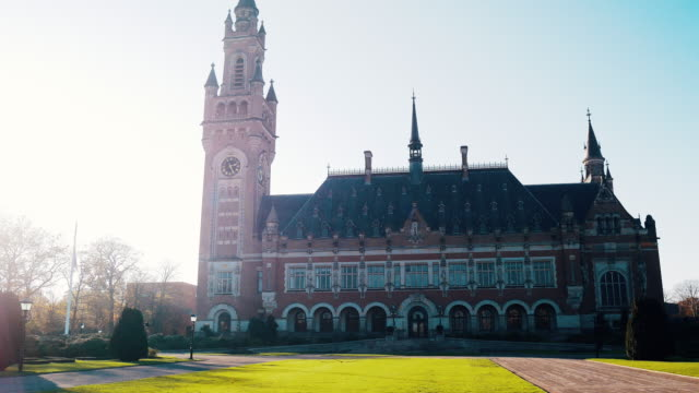 peace palace in the hague, netherlands - united nations - the hague stock videos and b-roll footage