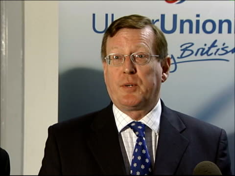 peace process; northern ireland: int david trimble speaking to press sot - when republicans fail to deliver, they find governments were too indulgent... - 14 15 years stock videos & royalty-free footage