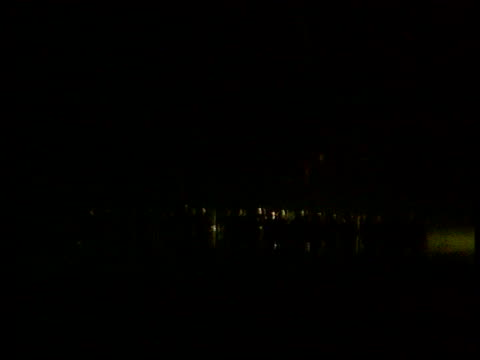 peace talks; northern ireland: peace talks; lib northern ireland: belfast: rev ian paisley mp towards lib portadown: drumcree: night protesters... - county armagh stock videos & royalty-free footage