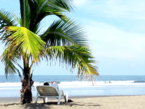peaceful beach (pal) - outdoor chair stock videos & royalty-free footage
