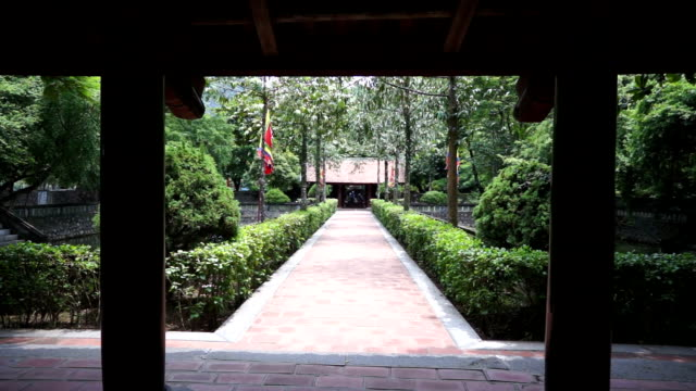 peaceful garden in hoa lu temple - traditionally vietnamese stock videos & royalty-free footage