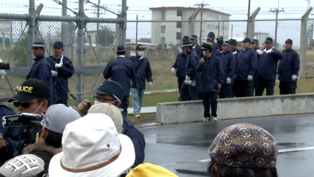 vidéos et rushes de peaceful show of people's opposition continued on december 3 against the construction of a new military base for the united states a day after the... - lawsuit
